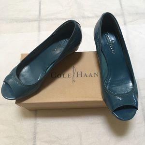 Cole Haan Air Tali Peep-toe Wedges